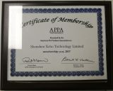 Certificate Membership of APPA