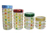 Glass Jar With Plastic Lids(TM045)