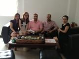 Soudi Arabic Clinet′s visit to ChuangFan Office furniture factory