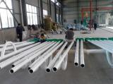Workshop of Solar Street Light Poles