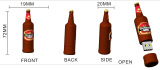 Customized Bottle PVC USB