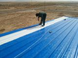 Roof installation on site in the project of Algeria