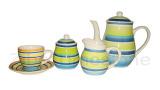 Stoneware 17 Piece Hand Painted Tea Set