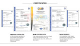 CERTIFICATE for ALL PRODUCTS