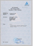 CE Certificate 2, from TUV