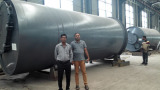 customers visited for 12Ton pyrolysis plant