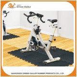 Interlocking rubber mat for gym equipment