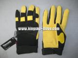 Thinsulate deerskin leather mechanic palm reinforced winter glove