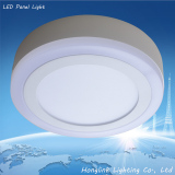 3w 6w 12w 18w Double color aluminum and PMMA SMD led ceiling panel light