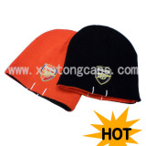 Reversible Knitted Hat With Embroidery(Jrk071)