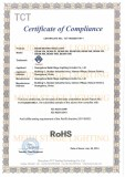RoHS CERTIFICATE OF BEAM MOVING HEAD LIGHT