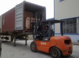Water bottling line container loading
