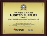 AUDITED SUPPLIER CERTIFICATE 2011