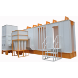 Multi cyclone recovery powder coating booth