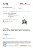 SGS Certificate of Expo Tent