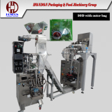Nylon pyramid tea bag with outer envelop packaging machinery