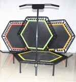 Jumping springfree Hexagon Bungee Fitness Trampoline with Handle