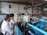 Chile customer visited our factory for chain link fence machine