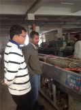 INDIAN CLIENTS VISIT OUR DOMESTIC CLIENT′S WORKSHOP