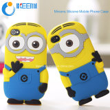 Lovely Silicone Minions Mobile Phone Case for Iphone