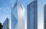 Blue Low e Coating Curtain Wall