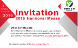Hanover Exhibition 2016--Invitation from YUANYIDA
