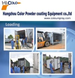 Loading-Powder coating oven and powder spray booth