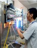 Gas water heater testing