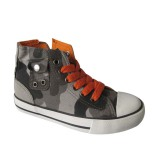 Camouflage Canvas Upper Material and Cotton Fabric Lining Sneaker Shoes
