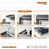 aluminum frame set up steps
