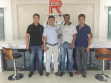 Welcome Mauritius customers visiting Shanghai Reliance Alu Co.,Ltd
