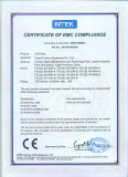 Certificate of EMC compliance