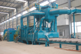 Large steel pretreatment line