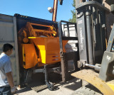 Packing Diesel Trailer Concrete Mixer Pump to Sri Lanka