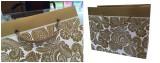 Gold printing (Panton color printing )on white paper bag