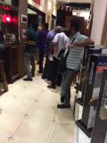 Customers from India in our showroom