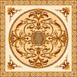 Flower Pattern Carpet Tile Polished Crystal Ceramic Floor Tile 1200X1200mm (BMP05)
