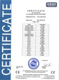 Certification of conformity for table top fryer