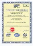 English ISO certificate