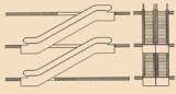Parallel,interrupted arrangement (two-way traffic)