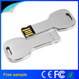 Free Logo Metal Key Shaped USB Flash Disk