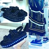 2016 New arrival LED luminous kids sandals children summer shoes