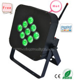 9X10W Wireless Battery Powered Mini Flat RGBWA LED PAR Light