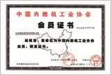 Member Certificate of China Internal Combustion Engine Industry Association