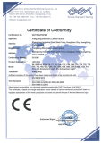 CE - EMC certificated for LED bulbs