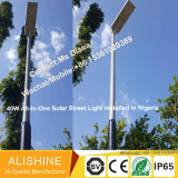 40w all in one solar street light with Microwave sensor installed in Nigeria