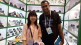 The old client from India come to our booth in 115 Canton Fair