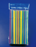 100pcs customer customize flexible drinking straw