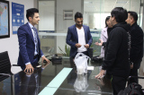 meeting with customers in our meeting room