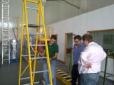 Import of fiberglass platform ladder from Australia in May 2011